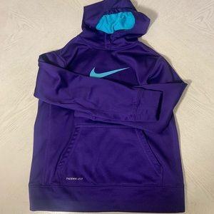 NIKE Girls Therma-Fit Logo Purple/Blue Sweatshirt